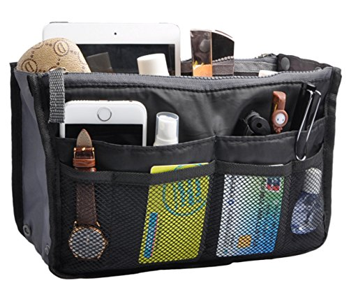 Keep Your Handbag Organized And In Control Multiple Pockets To Classify Personal Stuff Portable Compact Make Bag Clean