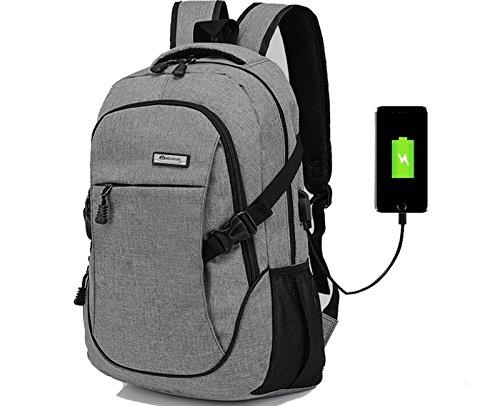 2454ed2150 Doingbag Unisex-Adult Hiking Laptop Backpack USB Charging Port Waterproof  Camping Outdoor Rucksack