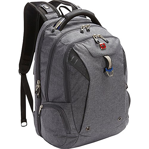 e91e10a14f SwissGear Travel Gear Scansmart Backpack 5902 – EXCLUSIVE Heather  Grey Navy. Zippered mesh pocket. Padded cable handle. Padded laptop  compartment