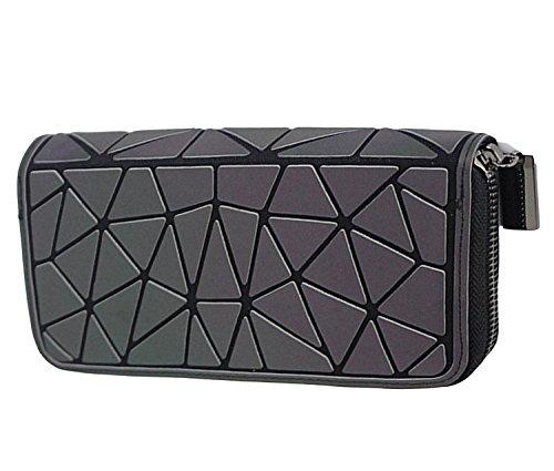 Magibag Women Geometric Rhomboids Lattice Wallet Iridescent Purse Long Coin  Purse Clutch Cell Phone Case Triangle 5b27ddc35b