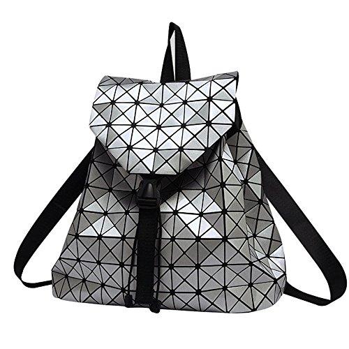 DIOMO Geometric Lingge Laser Women Backpack Travel Shoulder Bag Satchel  Rucksack 75702c4a93
