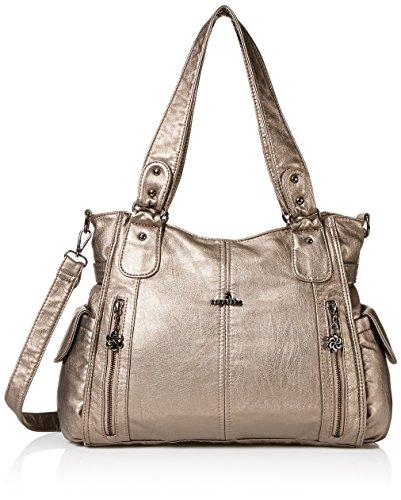 Angelkiss Women Top Handle Satchel Handbags Shoulder Bag Messenger ... 8fc2c75d45973