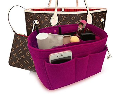 19b5f853af43 Felt Insert Fabric Purse Organizer Bag