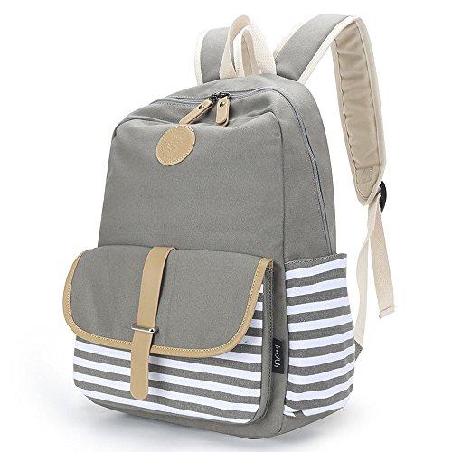 a3503b54e0ce Abshoo Lightweight Canvas Backpacks for Girls School Rucksack Women ...
