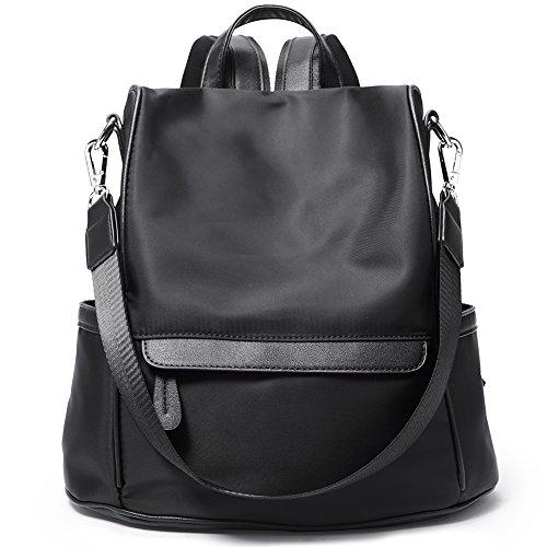 Women Backpack Purse Waterproof Nylon Anti-theft Rucksack ... eea7533259198
