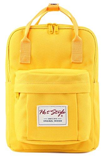 BESTIE 12″ Cute Mini Small Backpack Purse Travel Bag – Yellow ... 95e149a5d8cc4