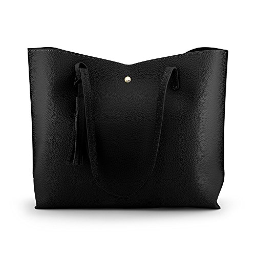 fc4f981d7f40 ... faux leather material that s light weight and comfortable to carry.  Strap handles drop length approx. Stylish and elegant tote shoulder bag  purse with a ...