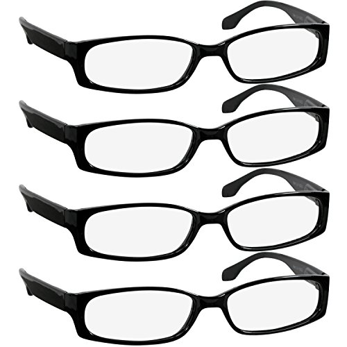 74b59a1de233 Best Designer 4 Pack of Readers Spring Hinge - Reading Glasses for Women  and Men