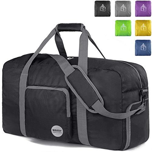 WANDF 28″ Foldable Duffle Bag 80L for Travel Gym Sports Lightweight Luggage  Duffel 2acb0c6dafb5d