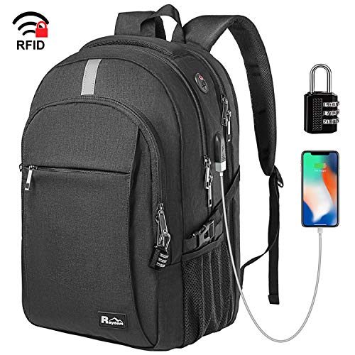 d3900497f Business Laptop Backpack, Extra Large TSA Friendly Durable Anti-Theft  Travel Backpack with USB Charging Port, Water Resistant College School  Computer Bag ...